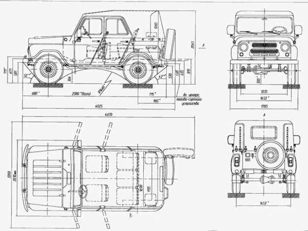 УАЗ-469Б колесных редукторов